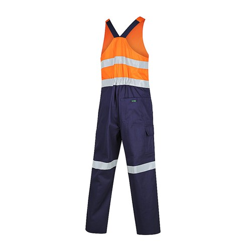 Hi Vis 2-Tone Regular Weight Action Back Coverall with Reflective Tape