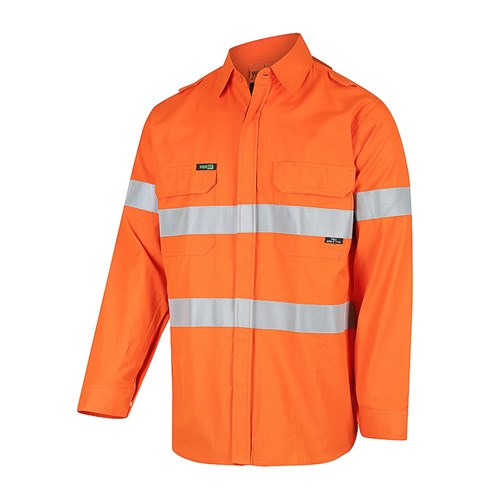 WORKIT  PPE1 FLAREX  Inherent Lightweight Hi-Vis Shirt with Ventilation and FR Reflective Tape