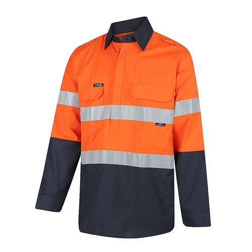 PPE1 FLAREX™ Inherent Lightweight Hi-Vis Half Closed Shirt with Ventilation and FR Reflective Tape