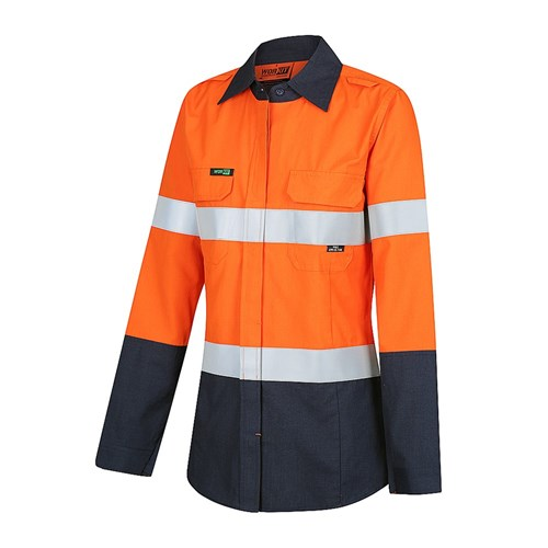 WORKIT® PPE1 FLAREX™ Inherent Lightweight Ladies Hi-Vis LADIES Shirt with Ventilation and FR Reflective Tape