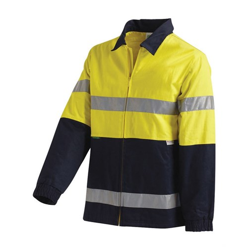 Hi-Vis 2 Tone Cotton Drill Taped Jacket