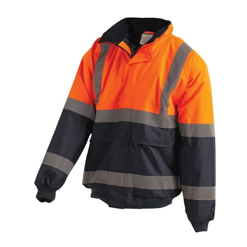 WORKIT® Hi Vis 2-Tone Wet Weather Bomber Jacket with Reflective Tape