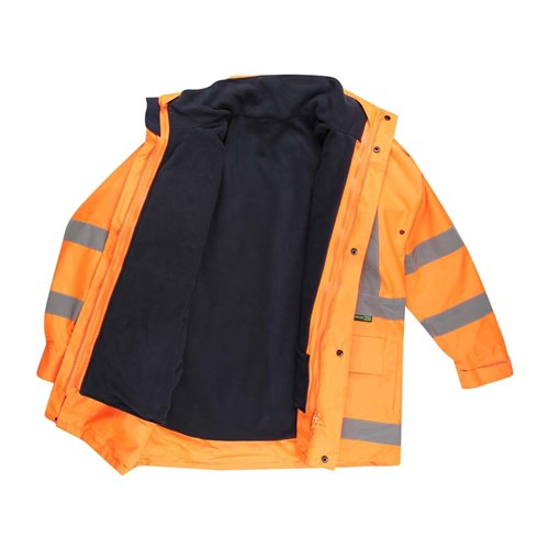 Hi-Vis 2-Tone 5 in 1 Waterproof Jacket with X-Back Reflective Tape