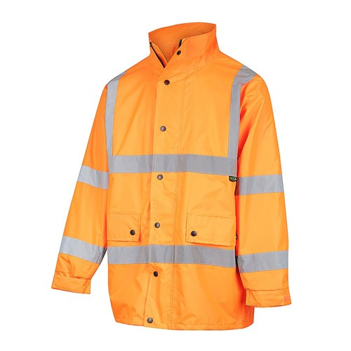 WORKIT® Hi-Vis Waterproof Jacket with X-Back Reflective Tape - NSW RAIL